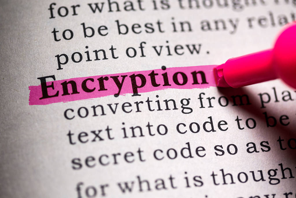 definition of the word encryption