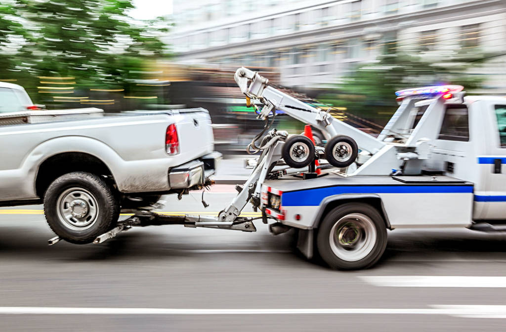 police department tow truck