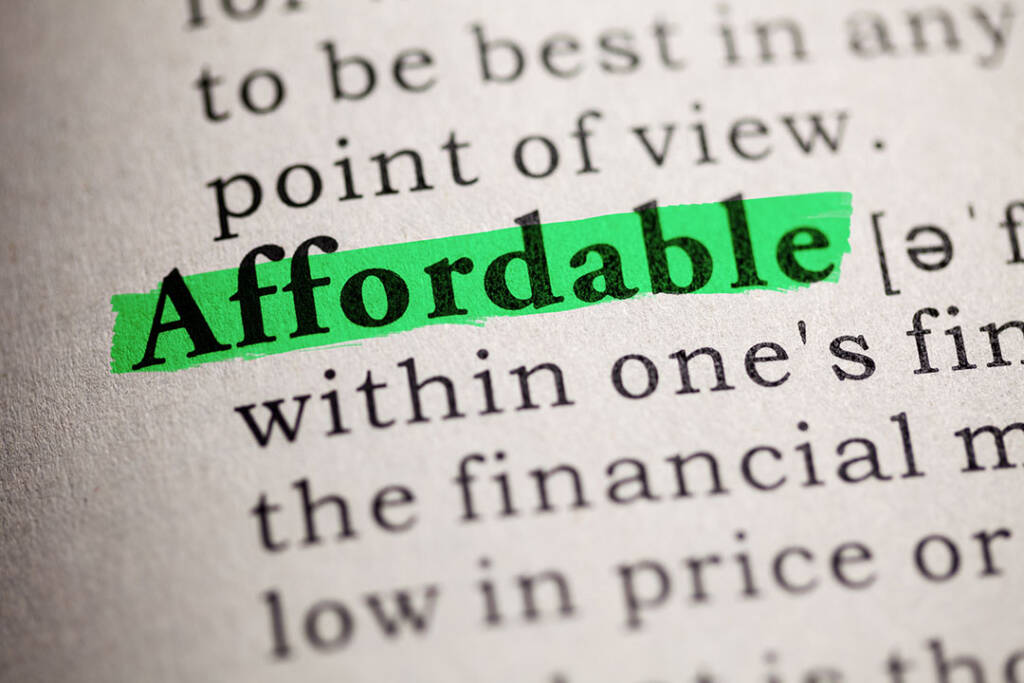 Definition of Affordable
